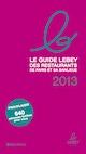 Guide Lebey des restaurants 2013