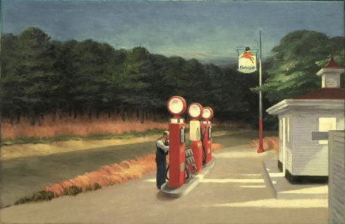 Edward Hopper, Gas 1940. Huile sur toile, 66,7 x 102,2 cm. New York, The Museum of Modern Art Mrs. Simon Guggenheim Fund, 1943 © 2012. Digital image, The Museum of Modern Art, New-York/Scala, Florence