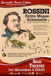 Petite messe solennelle de Rossini par l'Ensemble Vocal d'Arles, le 1er décembre 2012, théâtre, Arles