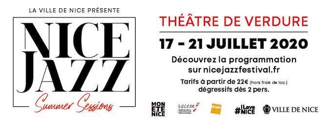 La ville de Nice présente les « Nice Jazz Summer Sessions »  du 17 au 21 juillet 2020 à 21 heures au Théâtre de Verdure
