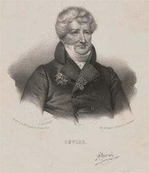 Georges Cuvier. Lithographie, XIXe siècle. © Bibliothèque centrale MNHN, Paris, 2012