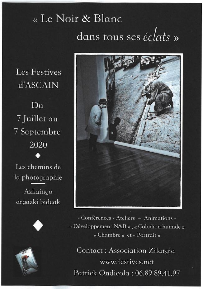 Ascain (64) - Photographie au Pays Basque : « Le Noir & Blanc dans tous ses éclats », du 7 juillet au 7 septembre 2020