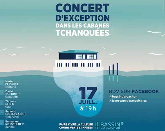 Les Escapades Musicales & le Bassin d'Arcachon présentent un concert d'exception aux Cabanes Tchanquées pour « faire vivre la culture contre vents et marées »