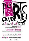 Les peintres ouvrent leurs ateliers lors des portes ouvertes d'Anvers aux Abbesses, Paris, du 16 au 18 novembre 2012