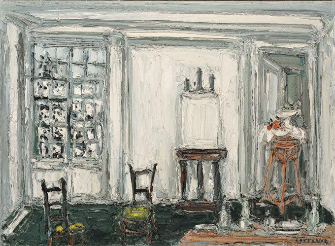 Cottavoz L'atelier en hiver, huile sur toile 73 x 100 cm