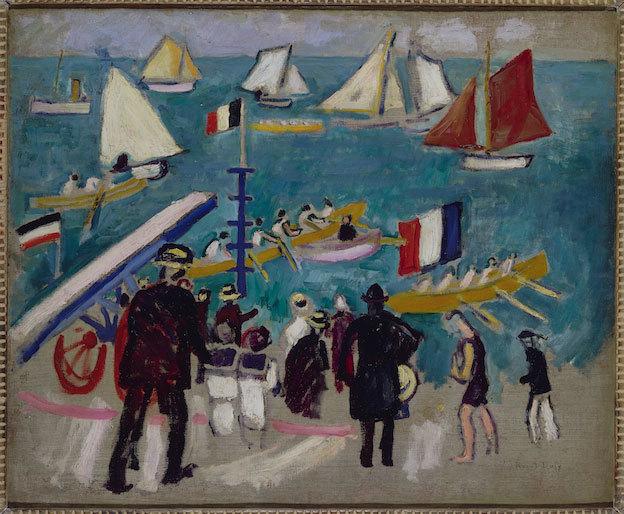 Les Régates Raoul Dufy Paris, Musée d'Art Moderne de la ville de Paris © RMN / Agence Bulloz / Adagp, Paris 2012