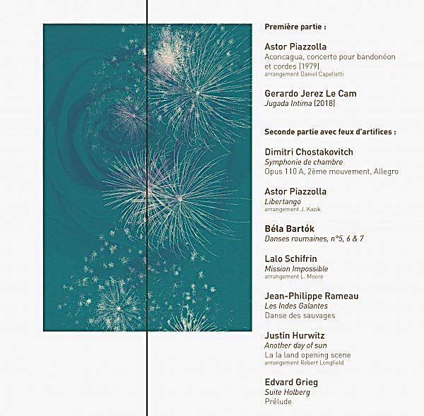 Étincelles - Pyrosymphonie, par l'Orchestre des Pays de Savoie le 22 juillet 2020 à Courchevel