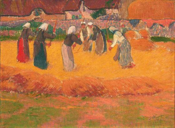 Henry Moret, Batteuses de blé, 1892, hsp, 37.5 x 50 cm © B. Galéron