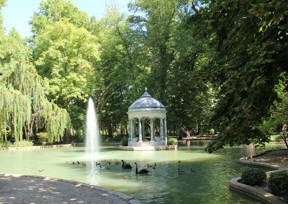 Jeux d'eau dans le Jardin du Prince ©Pierre Aimar