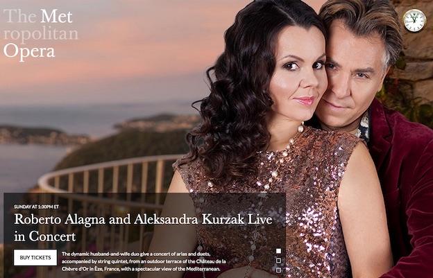 Château La Chèvre d'Or, Eze. Concert Live Stream Roberto Alagna et Aleksandra Kurzak // Met New York - dimanche 16 août à 19h00