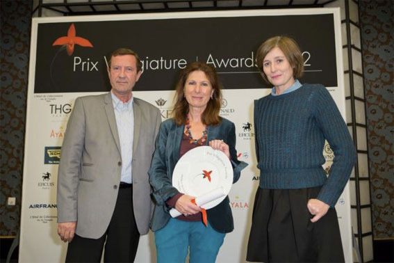 Jean-Pierre Chanial (Le Figaro) Marianne Estène-Chauvin, Marie Montuir (Paris Première) © Takehiko Inagaki