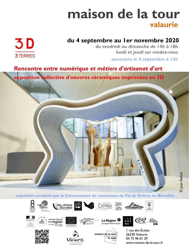 Valaurie (26). 3D 3Terres, rencontre entre numérique et métiers d'artisanat d'art