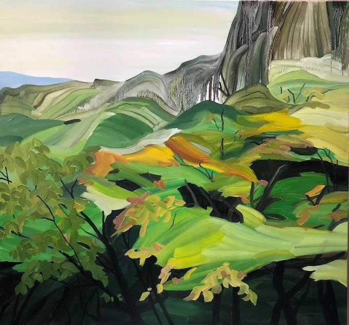 Liu Mengpei. Sakurai-Hase, 2019 Peinture à l'huile, 130 x 140 cm