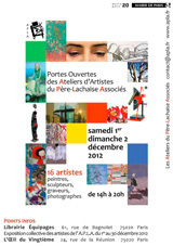 Portes ouvertes des Ateliers du Père Lachaise, Paris, les 1er et 2 décembre 2012