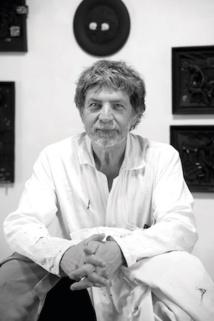 Philippe Favier dans son atelier, 2020 © Musée de Valence, Emmanuel Georges