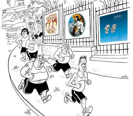 Le Tour du XXe siècle en 80 dessins ! Grilles du Palais du Luxembourg, Paris, du 23 novembre 2012 au 1er mars 2013