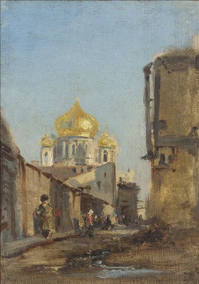 Tobolsk, Siberie, 1842. Huile sur toile 24x17 cm. Musée des Beaux-Arts de la Ville de Paris, Petit Palais © Petit Palais / Roger-Viollet
