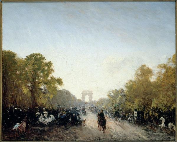 L'avenue des Champs Elysées 1860 - 1911. Huile sur toile. Musée d'Histoire de la Ville de Paris, Carnavalet  © Musée Carnavalet / Roger-Viollet