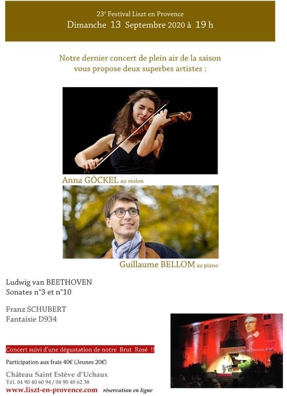 Uchaux (84), festival Liszt en Provence, Anna Göckel et Guillaume Bellom pour le dernier concert de la saison