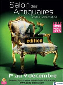 42e Salon des Antiquaires de Nîmes du 1er au 9 décembre 2012 au Parc Expo de Nîmes.