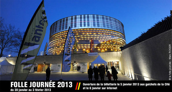 La Folle Journée de Nantes 2013. L'Heure exquise en région Pays de la Loire et à Nantes