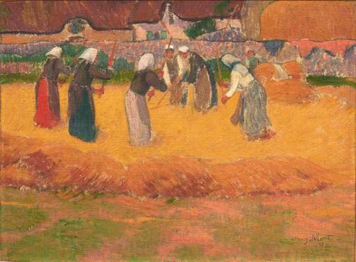 Henry Moret, Batteuses de blé, Huile sur panneau, 1892, 37.5x50 cm, © Bernard Galéron
