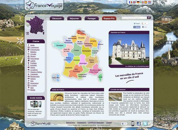 France-Voyage.com, un site pour voyager en France