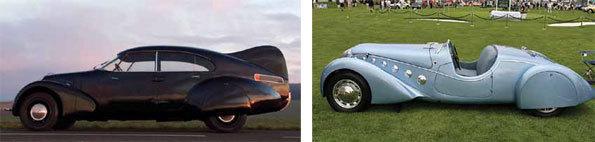 Peugeot « Andreau » 1936 et Peugeot Darl'Mat Competition © DR