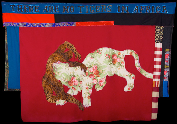 There are no tigers in Africa 2010, Assembled textiles, 170cm x 236cm