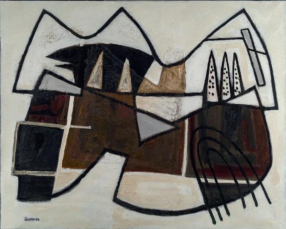 Raymond Guerrier, Alpilles, 1979, huile sur toile, 130 x 162 cm, Collection particulière, cliché Fabrice Lepletier, ADAGP, Paris, 2020