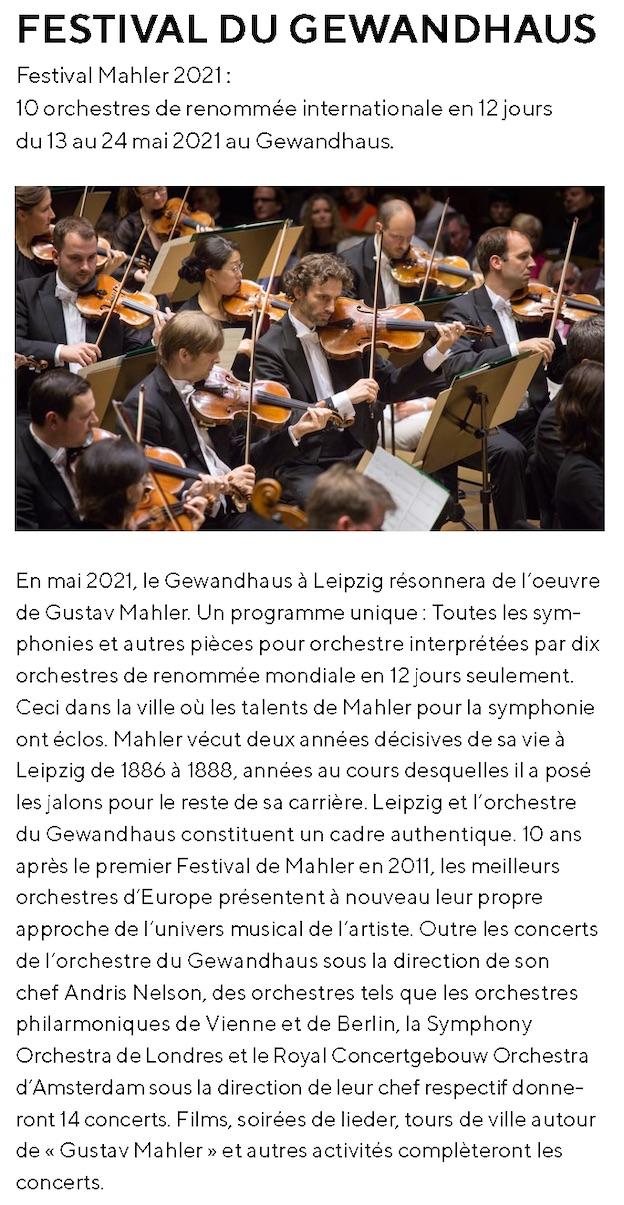 Découvrez la Ville musicale : Leipzig et ses festivals en 2021/22