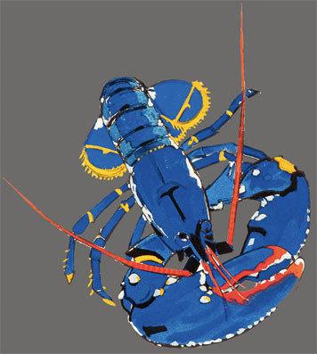 Colette, Regarde, le homard - Méheut, Mathurin (1882-1958) © Rousseau, Grand Angle, Lamballe - ADAGP, Paris 2012