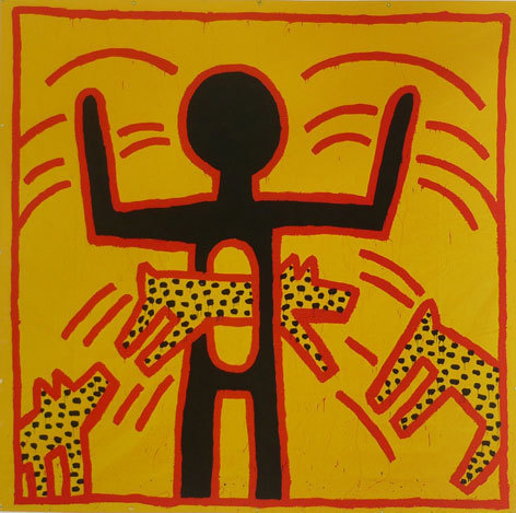Keith Haring. Untitled,1982 Collection de son altesse Sheikha Salama bint Hamdan Al Nahyah © Keith Haring Foundation