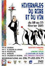 Hivernales du rire et du vin en Héraultais, du 8 au 23 février 2013