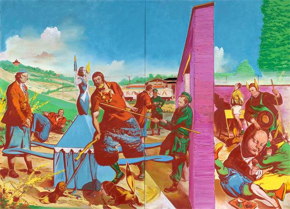Neo Rauch Die Kontrolle, 2010 Öl auf Leinwand 300 x 420 cm Private Collection / Basel courtesy Galerie EIGEN + ART Leipzig/Berlin and David Zwirner, New York Photo: Uwe Walter, Berlin