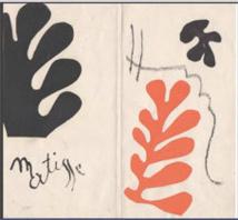"""Henri Matisse, Maquette du catalogue """"Henri Matisse, Lithographies rares"""", exposition à la Galerie Berggruen, Paris, 1954 Papiers gouachés, découpés et collés sur papier Collection particulière © Succession H. Matisse © Philip Bernard"""