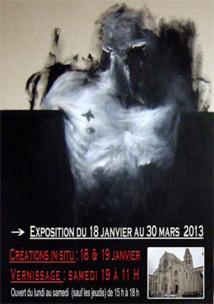 Benjamin Carbonne, Créations in situ / performances. Galerie d'art corps & âme et l'église St Paul de Nîmes, du 18 janvier au 30 mars 2013
