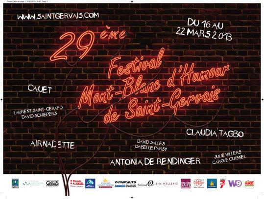 29e Festival Mont-Blanc d'Humour de Saint-Gervais du 16 au 22 mars 2013