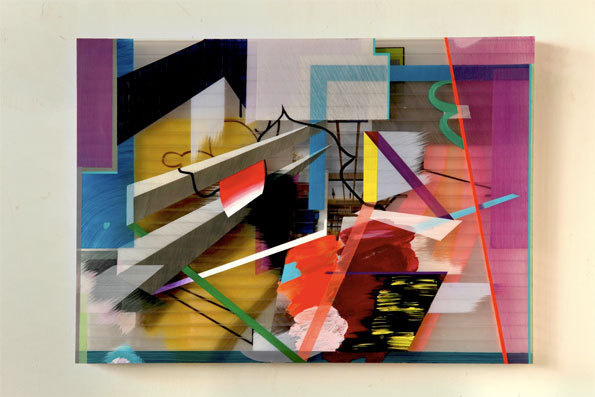 Atelier 3, 2012, mixed media on triplewall, 50 x 70 cm