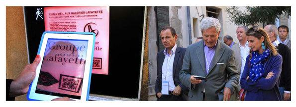 Aurélie Filippetti, Ministre de la Culture et de la Communication découvre l'Arles numérique © DR