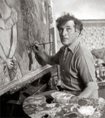 Marc Chagall peignant 1938-1944 © Archives Marc et Ida Chagall, Paris © ADAGP, Paris 2013 / CHAGALL ®