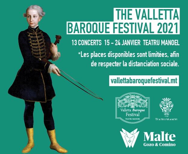 The Valletta Baroque Festival 2021. rendez-vous incontournable des amateurs de musique baroque et classique à Malte du 15 au 24 janvier 2021