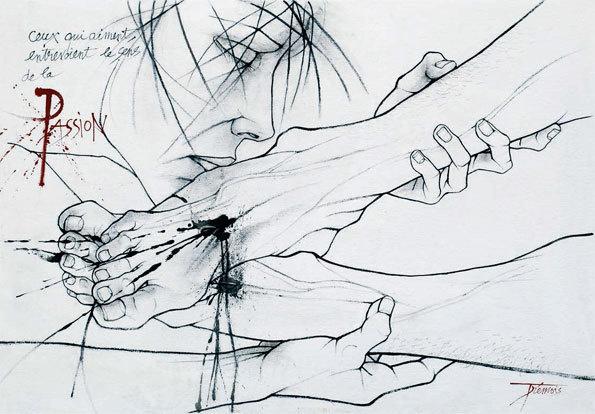 Trémois. Déposition (18), 2011, acrylique sur toile, 80 x 114 cm