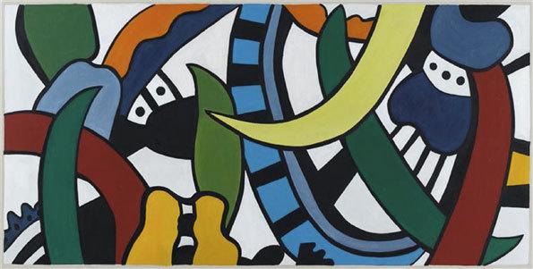 """Fernand Léger, Projet pour une peinture murale """"Vulcania"""", 1951, huile sur toile, donation Nadia et Georges Bauquier au musée national Fernand Léger © RMN-Grand Palais / Gérard Blot © ADAGP, Paris 2013"""