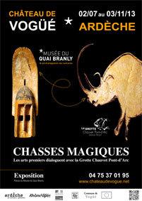 Chasses magiques - Les arts premiers dialoguent avec la Grotte Chauvet en Ardèche, Château de Vogüé, du 2 juillet au 3 novembre 2013
