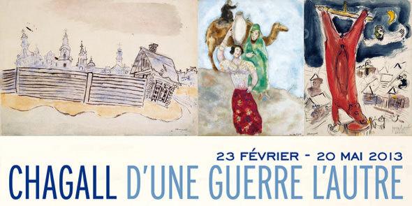 Chagall, d'une guerre l'autre, au musée national Marc Chagall Nice, du 23 février au 20 mai 2013