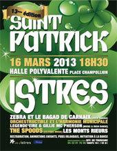 Istres fête la Saint Patrick le samedi 16 mars 2013 pour la 13e édition à la Halle Polyvalente - place Champollion