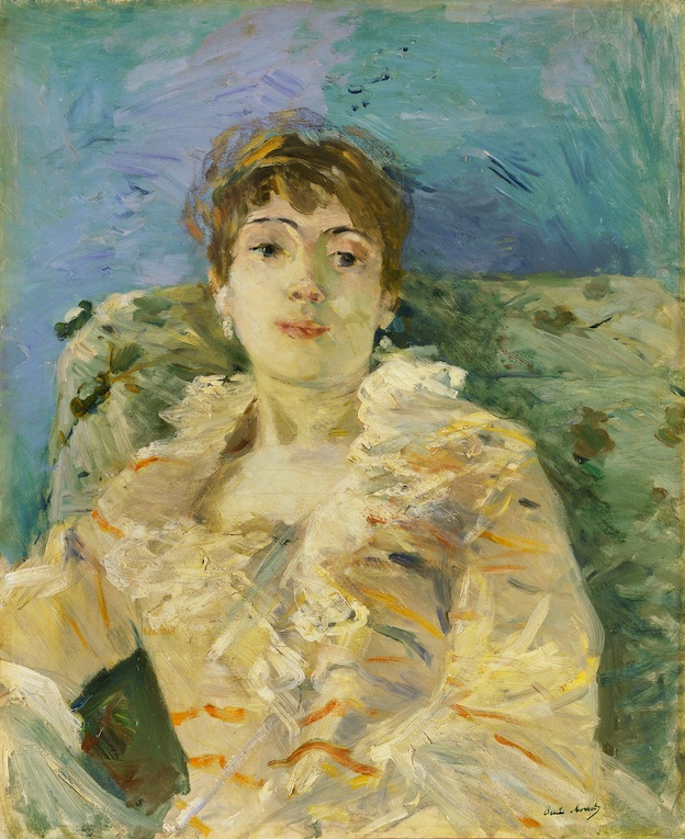 Berthe Morisot, Jeune Femme au Divan, 1885. Huile sur toile 61 x 50.2 cm Tate, London. Photo © Tate