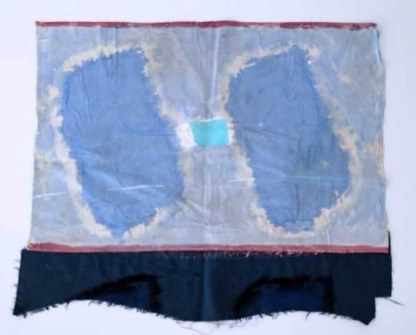 Claude VIALLAT Sans Titre, 2012 Acrylique sur raboutage 61 x 77 cm Courtesy Galerie Catherine Issert