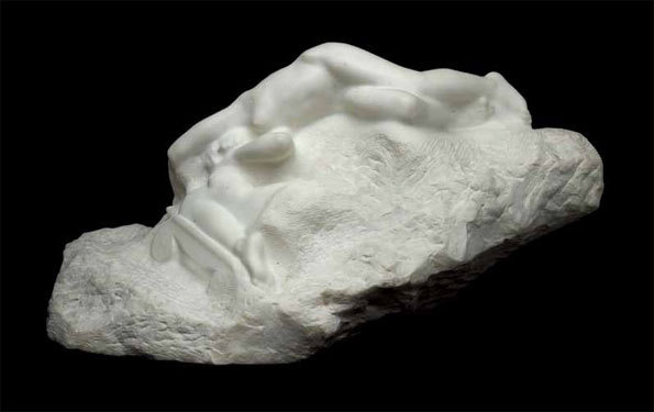 La mort d'Athènes. Auguste Rodin. Marbre, 1903, 44 x 75 x 39 cm. Liverpool Museum, Walker Art Gallery © National Museums, Liverpool, Walker Art Gallery Bequeathed by James Smith, 1923